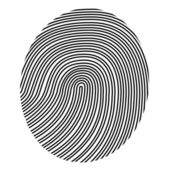 Drawing fingerprint — Stock Vector