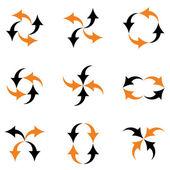 Arrows composition — Stock Vector