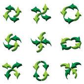 3D arrows composition — Stock Vector