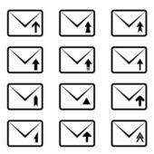 电子邮件标志 — 图库矢量图片