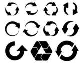 Flechas circulares — Vector de stock