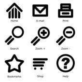 Os ícones do web — Vetor de Stock