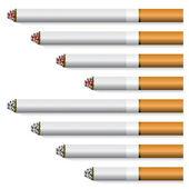 Cigarettes - orange filter — Stock Vector