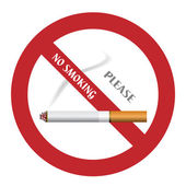 Rökning förbjuden-skylt — Stockvektor