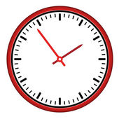 Clock face - easy change time — Stock Vector