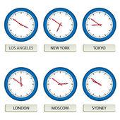Urtavlor - tidszoner — Stockvektor