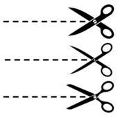 Scissors cut lines — Stock Vector