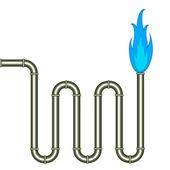 Burning pipe — Wektor stockowy