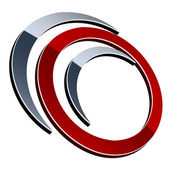 3d shiny element — Stock Vector