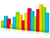 3d shiny graph — Stock Vector