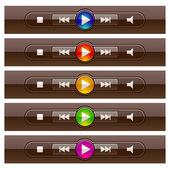 Shiny multimedia panels — Cтоковый вектор