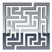3d лабиринт блестящие — Cтоковый вектор