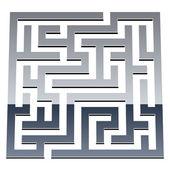 3d shiny maze — Stock Vector