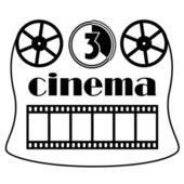 Cinema symbol — Stock Vector