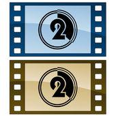 Film strips — Stock Vector