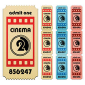 Cinema tickets — Stock Vector