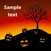 Calabazas de halloween — Vector de stock
