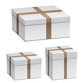 White shipping boxes — Stock Vector