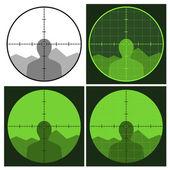 Gun crosshair sight — Stock Vector