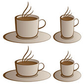 Coffee cups — Stock Vector