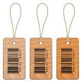 Code à barres des étiquettes en carton — Vecteur