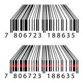 Códigos de barras 3d — Vector de stock