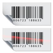 Barcode stickers — Stock vektor
