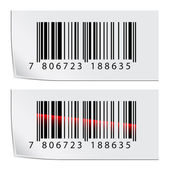 Barcode stickers — Stockvector