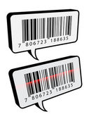Barcode tekstballonnen — Stockvector