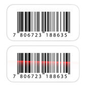 Barcode stickers — Stock Vector