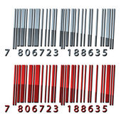 3d abstract barcodes — Stockvector