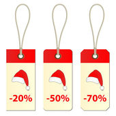 Etiquetas de cartulina de navidad — Vector de stock