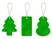 Christmas cardboard tags — Cтоковый вектор