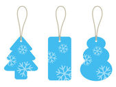 Christmas cardboard tags — Stockvector