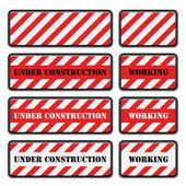 Under construction — Vettoriale Stock