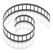 3d film strip — Stock Vector