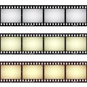 Graffiato strisce di pellicola trasparente — Vettoriale Stock