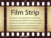 Scratched film strip — Cтоковый вектор