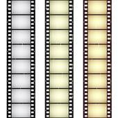 Bandes de film transparent rayé — Vecteur