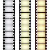 Scratched seamless film strips — Stockvector