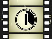 Striscia di pellicola graffiata — Vettoriale Stock