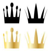 Simboli di corona — Vettoriale Stock
