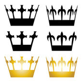 Crown symbols — Stock Vector