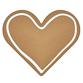 Gingerbread heart — Vecteur