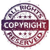 Damaged copyright stamp — Stock Vector