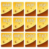 ícones de documento — Vetorial Stock