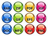 ícones de documento arredondada — Vetorial Stock