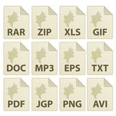 Ikony ve věku dokumentu — Stock vektor