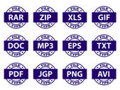 Document icon stamps — Stockvector