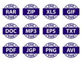 文档图标邮票 — 图库矢量图片